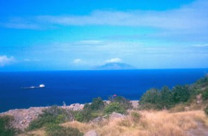 Saba viewed from Northern Centers of St. Eustatius .