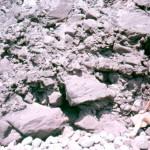 Coarse crumble breccia in seacliffs adjacent to Great Hill dome.
