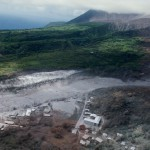 Deposits from June 25 1997 eruption in the vicinity of Harris village.