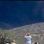 Ash falling from eruption cloud, Aug 1997.