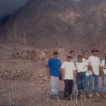 Students from UPRM on a field trip to Montserrat , April 1997.