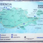 Map of Providencia and Santa Catalina islands.