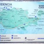 Map of Providencia and Santa Catalina islands.