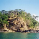 Scoriaceous surge deposits on top of a basalt lava flow, Punta Negra.
