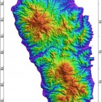 Radar Topography Map of Dominica