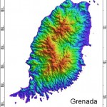 Radar Topography Map of Grenada