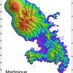 Radar Topography Map of Martinique