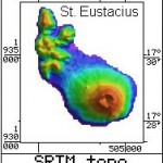 Radar Topography Map of St. Eustacius