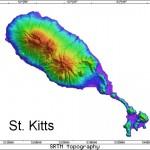 Radar Topography Map of St. Kitts