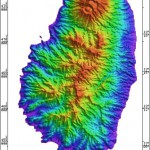 Radar Topography Map of St. Vincent