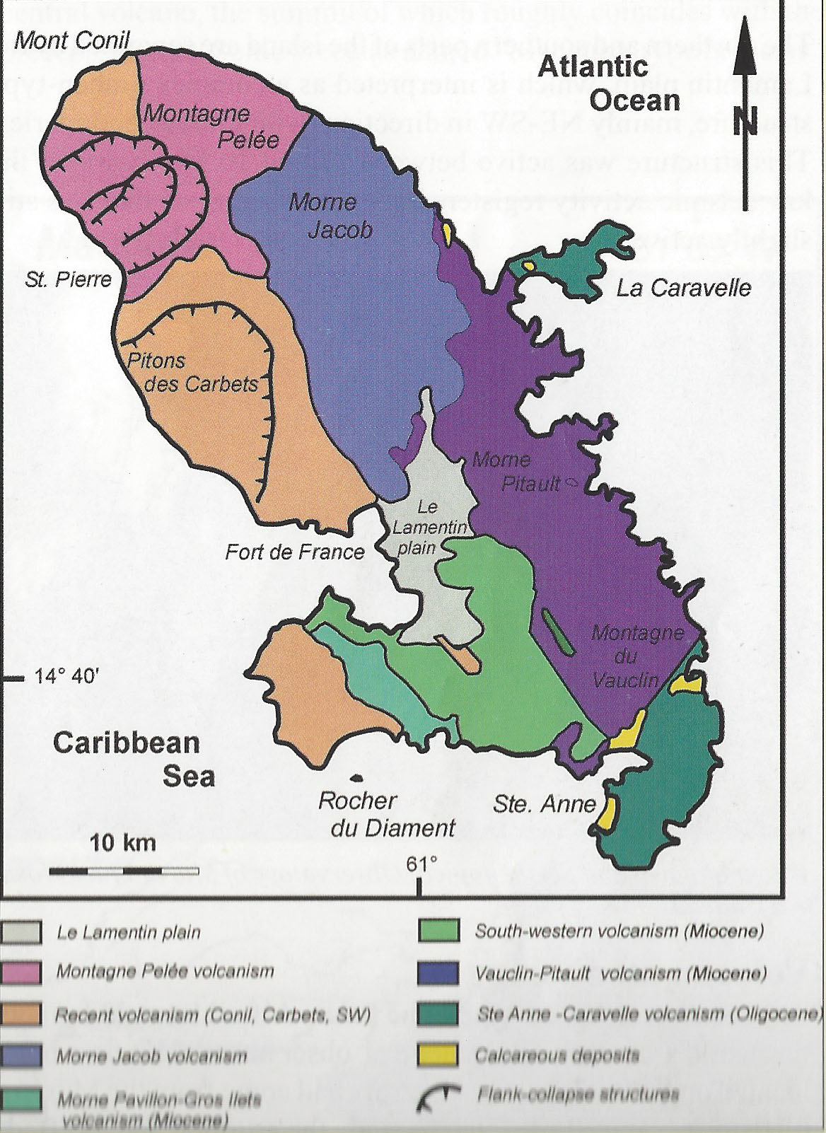 Martinique Geological Map